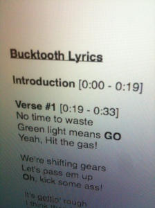 bucktooth lyric photo